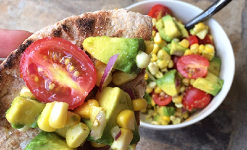 Avocado, Corn and Tomato