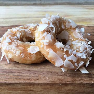 Coconut Glazed Cake Donuts
