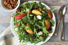Georgia Peach and Arugula Salad