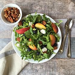 Georgia Peach and Arugula Salad