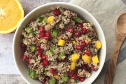 Warm Colorful Quinoa Salad