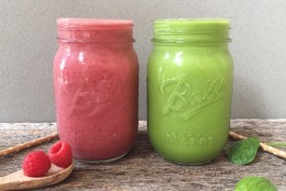 Very Cherry and Tropical Green Smoothie