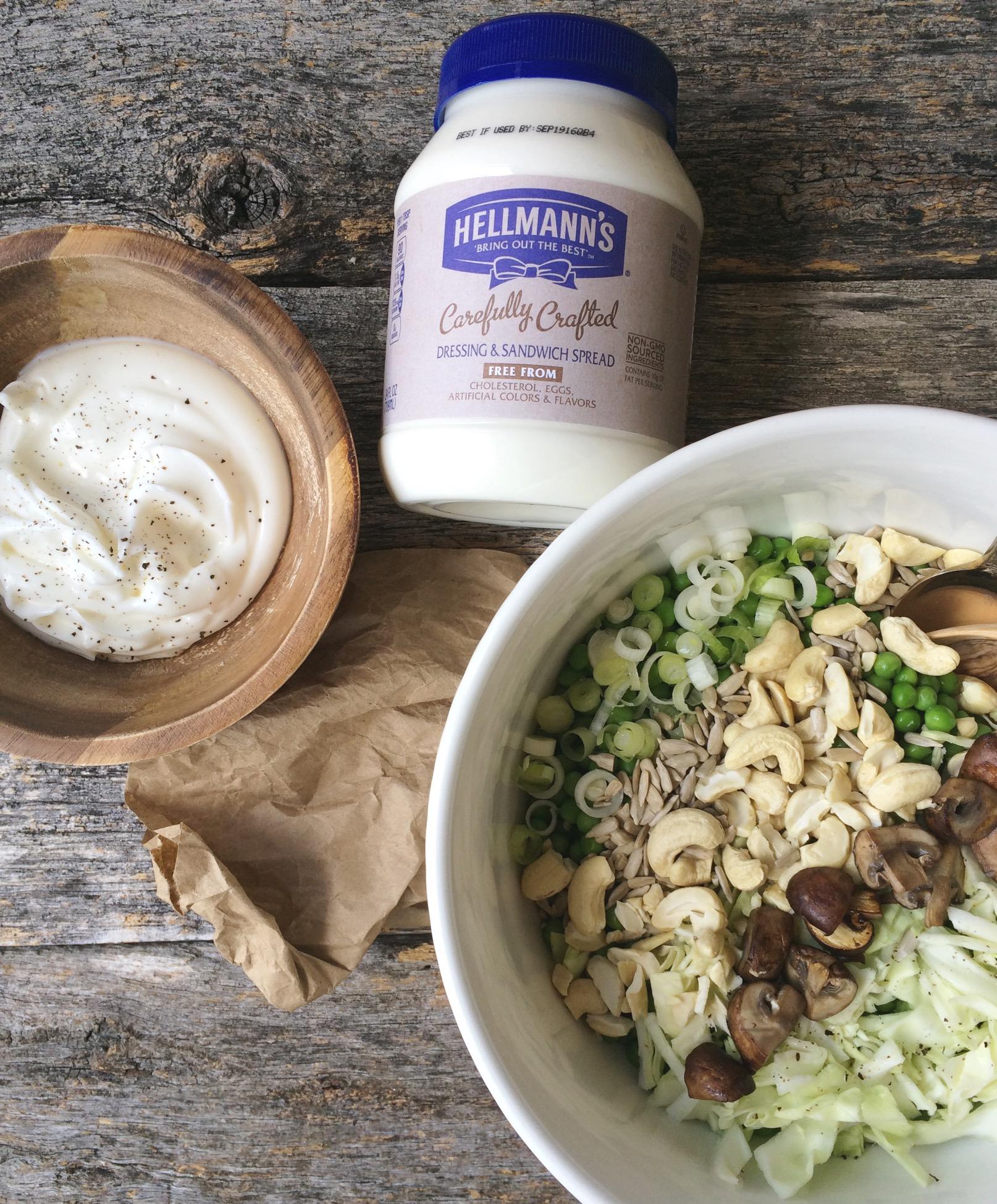Sweet Pea + Savory Mushroom Salad
