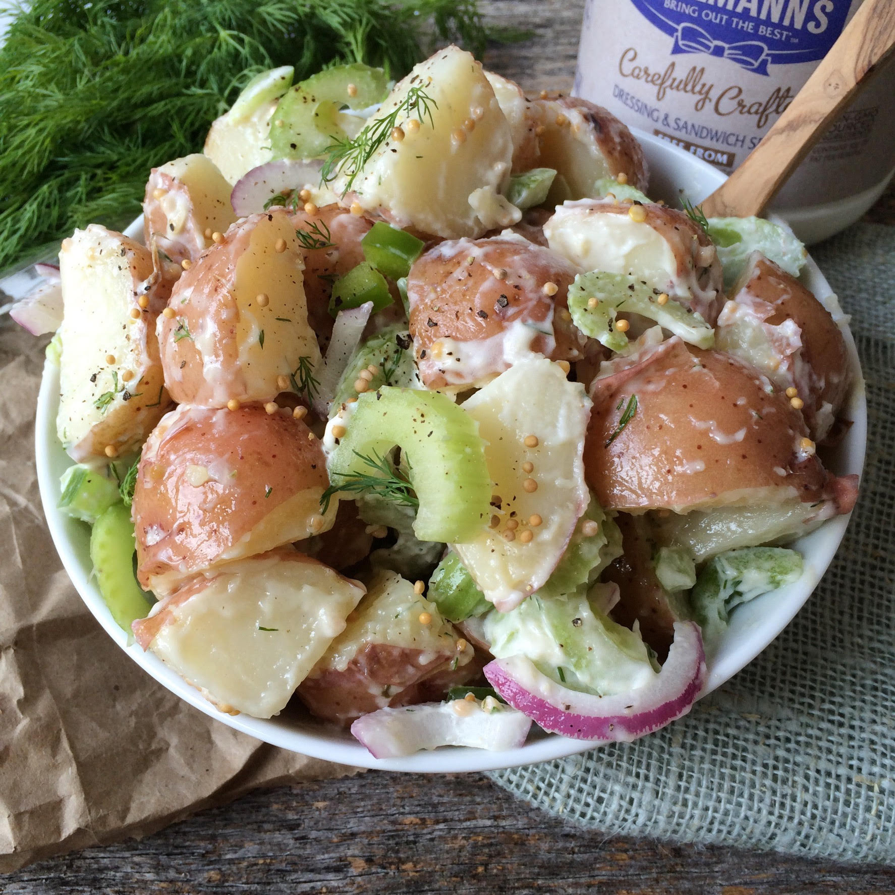 Loaded Red Skin Potato Salad