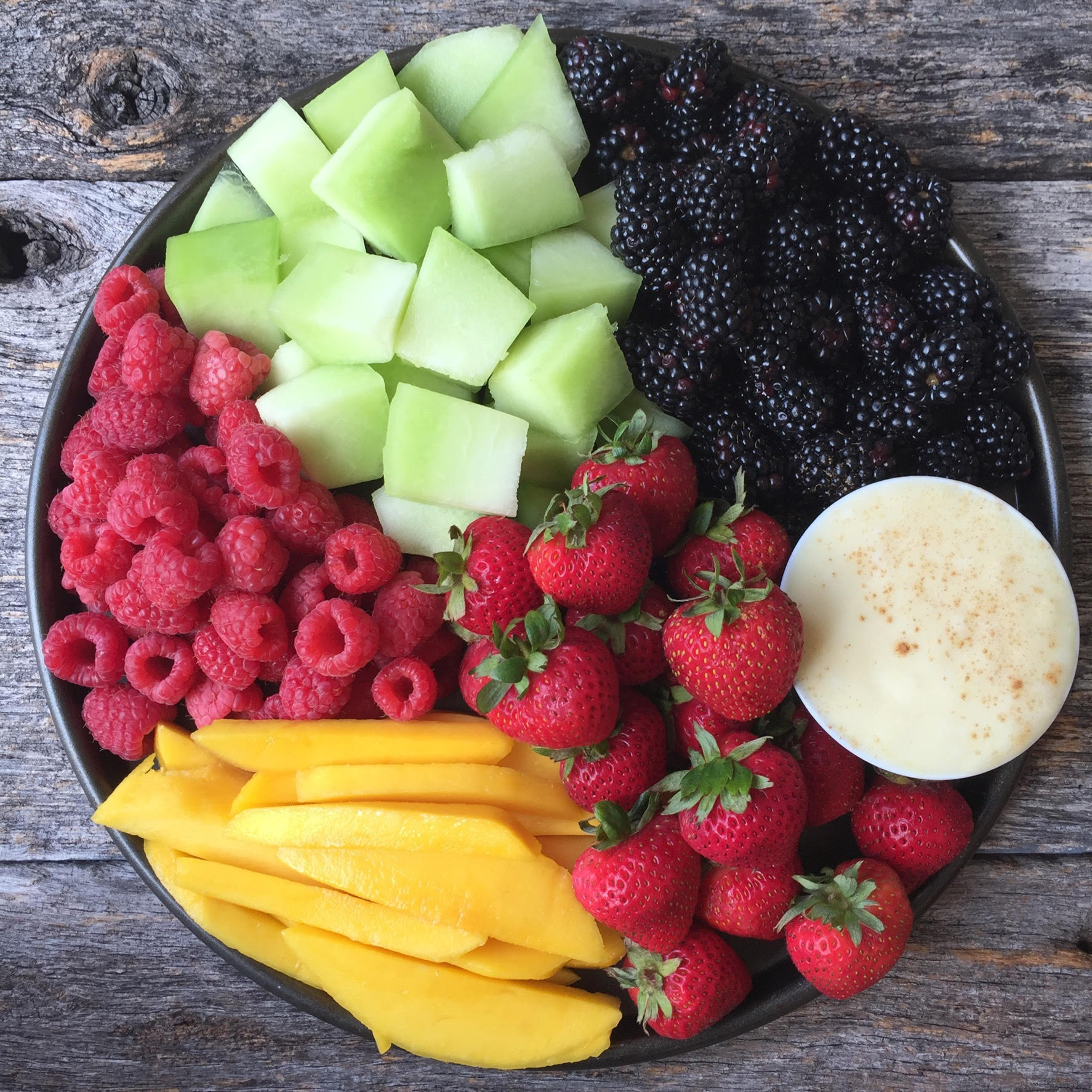 Rainbow Fruit with Pineapple Dip